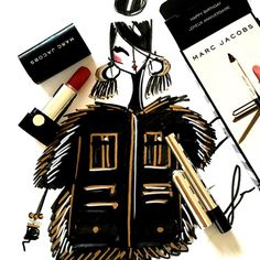 Marc Jacobs Beauty via Laura Kay of Diary Sketches