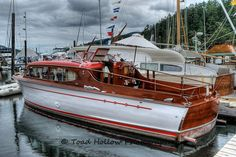 Chris Craft classic wooden boat festival at  Maple Bay Marina in Duncan, British Columbia, Canada ~ Photo by...Toad Hollow Photography.