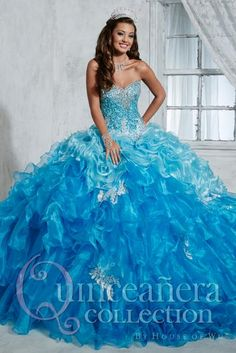 Tiffany Quince Strapless Beaded Bodice Gown 26785