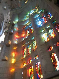 beautiful gaudi glass windows  barcelona, spain Gaudi, Barcelona Spain, Travel Photos, Fair Grounds, Windows, Glass, Fun, Beautiful, Drinkware
