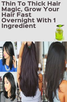 Thin To Thick Hair Magic Grow Your Hair Fast Overnight With 1 Ingredient