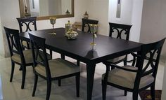 Formalbeauteous Red and black dining set in india