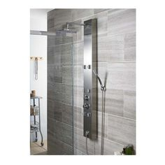 37 Modern Shower Designs For Your Modern Bathroom. Nowadays it seems that more and more people consider their bathroom as one of the best places in their home where they can retreat from the stresses . Contemporary Bathroom Designs, Modern Bathroom Decor, Bathroom Interior, Bathroom Shop, Master Bathroom, Bathroom Ideas, Shower Tower Panel, Shower Panels, Modern Shower