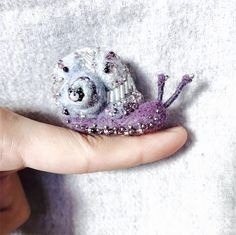 Cute Needle felted project wool animals snail (Via @suitychen)