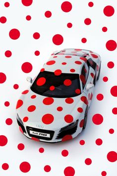 """""""The Audi Spirit Of A Water Droplet Covered Future"""" an installation by Japanese artist Yayoi Kusama for Audi's 100th anniversary. 2012-2013"""