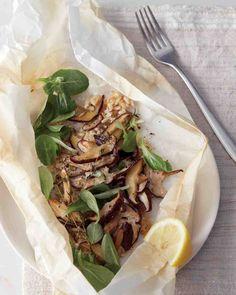 Shiitake Mushrooms and Brown Rice En Papillote