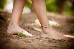 Anchor anklet brown nautical wrap anklet with a by ShaniAndAdi, $13.00