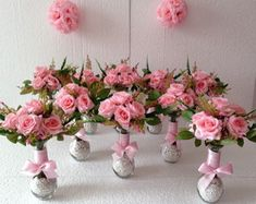 Fast Programs Of Nice Quinceanera Party Decorations - What's Needed - Happier Every Day Girl Baby Shower Decorations, Easter Bunny Decorations, Wedding Decorations, Bridal Shower Centerpieces, Decor Crafts, Diy And Crafts, Minnie Mouse Baby Shower, Quinceanera Party, Bridal Shower Decorations