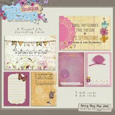 FREE Spring CatWalk – free Journaling Cards!!!