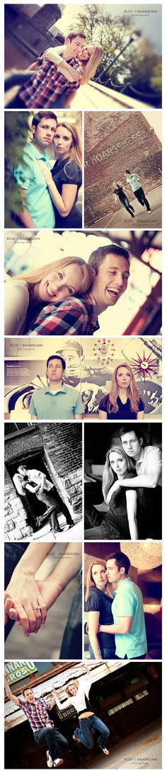 Nice string of ideas for an engagement shoot!