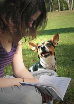 reading together makes dogs happy