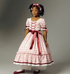 Items similar to Civil War Dress Pattern - Girls Dress - Butterick 5900 Pattern sizes 6 to 8 years - Historical Costume - Hooped Skirt on Etsy Little Girl Dress Patterns, Kids Dress Patterns, Costume Patterns, Little Girl Dresses, Girls Dresses, Little Girl Costumes, Kids Costumes Girls, Civil War Dress, Vogue Patterns