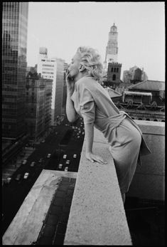 The iconic shots of Marilyn gazing down over the city from the balcony of her suite at the Ambassador Hotel.
