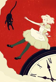 Japanese illustrator Sai Tamiya, Alice in Wonderland. #AliceInWonderland.