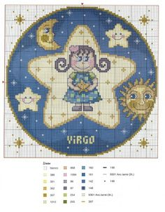 Virgo Zodiac Chart   like these for a gift for a new baby gift