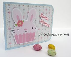 I have used print and cut to cut out the cute bunny and text with my Pazzles.  Papers are printed out and cut to size too.