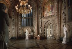 Central Lobby, Palace of Westminster (Houses of Parliament). Charles Barry and Augustus W. Limestone masonry and glass. Image from list, low resolution. Ap Art History 250, Houses Of Parliament, Prehistory, Westminster, Art And Architecture, 19th Century, United Kingdom, Palace, Around The Worlds