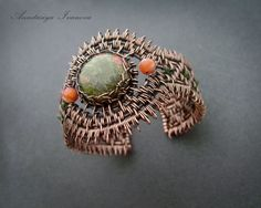 bracelet with unakite by NastivaJewerly on Etsy, $68.00