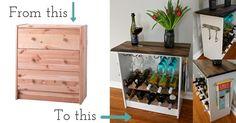 DIY Two Toned Wine Rack #IkeaHack — Weekend Craft