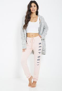 Keep Out Sweatpants | FOREVER21 - 2000138503