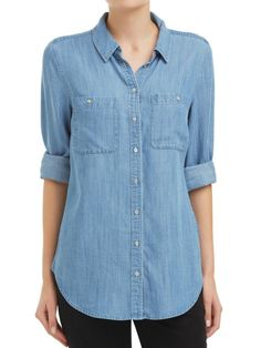 Sussan - Chambray high low shirt