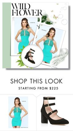 """""""Emerald Sherri Hill 32240 Short Lace Cocktail Dress"""" by susannelsone ❤ liked on Polyvore featuring Sherri Hill and Kate Spade"""