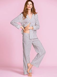 Our classic, perfected: the Cotton Mayfair Pajama from Victoria's Secret. The same supersoft, garment-washed cotton you dream of, now with a comfier fit and sweeter details. It's our update to the most-loved Mayfair pajama..