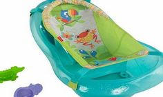 Fisher-Price Bath Tub, Rainforest Friends by Fisher-Price Baby and mom will both enjoy their bath time experience with the Rainforest Friends tub