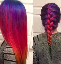 blue, green, hair, hairstyle, pink, purple, red, yellow