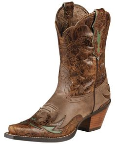 Women's Dahlia Boot - Dainty Brown/Cognac Floral    Really cute