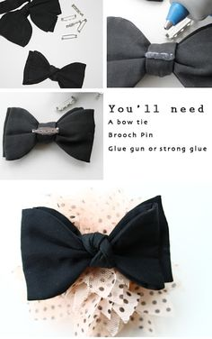 Lotts and Lots | DIY and creative living for the modern maker: DIY - Bow Tie Brooch