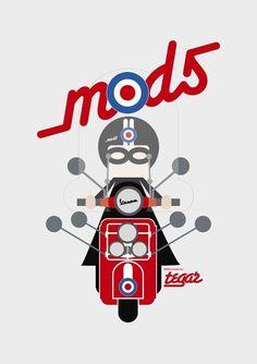 We are the Mods Mod Scooter, Lambretta Scooter, Vespa Scooters, Motorcycle Posters, Motorcycle Art, Vespa Illustration, Pop Art Images, Classic Vespa, Vespa Girl
