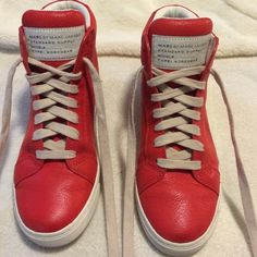 Marc by Marc Jacobs High Tops All leather inside and out high tops. Worn only 3 times.  Great condition. Includes bag for traveling. Marc by Marc Jacobs Shoes Sneakers