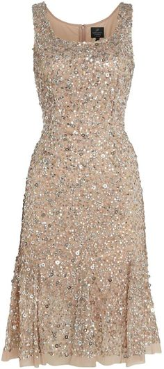 Adrianna Papell All over beaded sleeveless dress