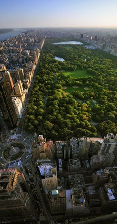 Aerial view of Central Park and Columbus Circle, Manhattan, New York | Top 10…
