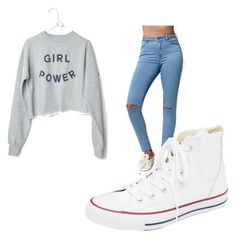 """""""Untitled #491"""" by heden-fun ❤ liked on Polyvore featuring Bullhead Denim Co. and Converse"""