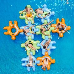 These water inner tubes, discovered by The Grommet, interlock to help you stay together on the lake, in a pool or rafting down a river. Lake Floats, Pool Floats, Summer Fun, Summer Time, Summer Bucket, Fun Time, Lake Toys, Float Trip, Thing 1