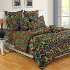 #Green Dash Colors of Life #BedSheets - 2413