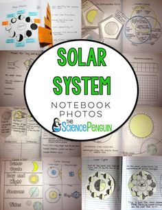 Photos of my notebook for a unit on our solar system