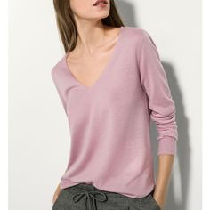 Cashmere sweater Massimo Dutti ($98) ❤ liked on Polyvore featuring tops, sweaters, massimo dutti, cashmere tops and cashmere sweater
