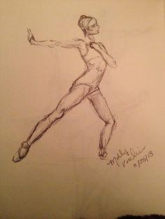Dancer.  sketch, by MGV.