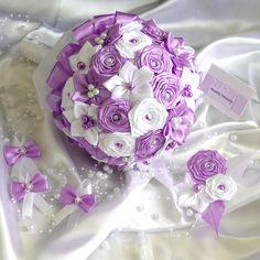 Látková kytica pre nevestu K-2 fialová, rôzne farby