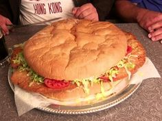 Adam visits Edward's Drive-In, home to a deep-fried pork tenderloin sandwich. Fried Pork Tenderloin, Pork Tenderloin Sandwich, Sliders, Hamburger, Fries, Sandwiches, Lunch, Bread, Deep