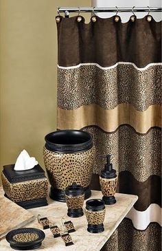 Animal Print Bathroom Decor Beautiful Cheetah Bathroom Set Curtain Etc Cheetah Print Bathroom, Animal Print Bedroom, Safari Bathroom, Animal Print Decor, Animal Prints, Leopard Bathroom Decor, Cheetah Print Decor, Leopard Decor, Leopard Prints