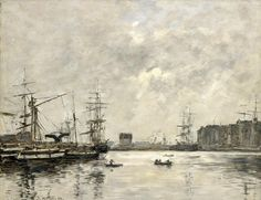 Eugène Boudin - Port du Havre, bassin de la Barre (1888)