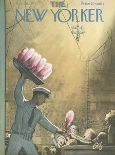 The New Yorker - Saturday, April 6, 1957 - Issue # 1677 - Vol. 33 - N° 7 - Cover by : Arthur Getz