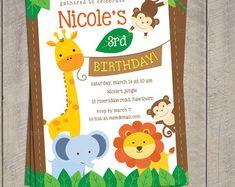 Invitación de la selva invitación de Safari mono por DellaGlobal
