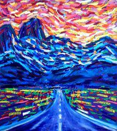 Buy On the road, Pastel drawing by Van Lanigh on Artfinder. Pastel Artwork, Oil Pastel Paintings, Original Paintings, Oil Pastels, Original Art, Road Drawing, Road Painting, Principles Of Art, Albrecht Durer