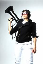 Michelle Chamuel!! She is so inspirational! I love how Usher supported her and wore those glasses. She need's to win this!!:)