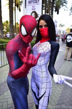 #Cosplay - #Silk and Spider-man